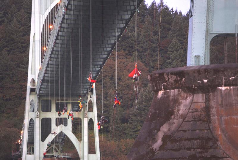 bridge climbers
